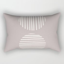 Inverted Mauve Circle Lines Rectangular Pillow