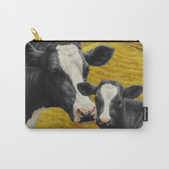 Holstein Cow and Cute Calf Carry-All Pouch