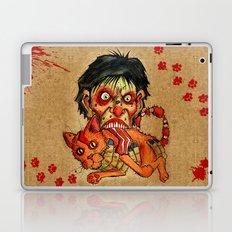 zombie eating bacon cat Laptop & iPad Skin