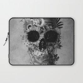 Garden Skull B&W Laptop Sleeve