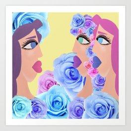 Rosa's Mirror Tale Art Print