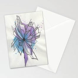Explosion Flower Blue and Purple Stationery Cards
