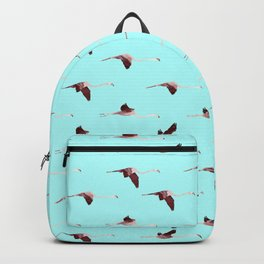 Flying Flamingos in Blue collab. with @rodrigomffonseca Backpack