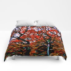 Raging Trees Comforters