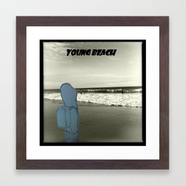 Young Beach Framed Art Print