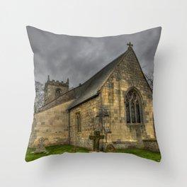 12th Century Church, England Throw Pillow