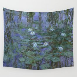 1916-Claude Monet- Blue Water Lilies-200 x 200 Wall Tapestry