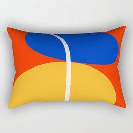 Red Zen Minimal Abstract Rectangular Pillow