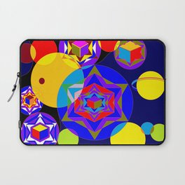 A Galaxy of Stars, Cubes and Planets Laptop Sleeve