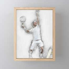 Federer Serve Framed Mini Art Print