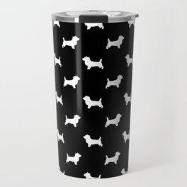 Cairn Terrier dog breed black and white dog pattern pet dog lover minimal Travel Mug
