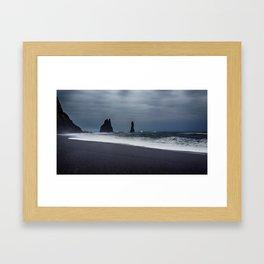Pinnacles at Black Sand Beach Framed Art Print