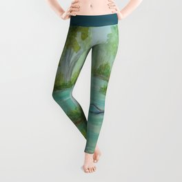 Little Manistee River MM120824a Leggings