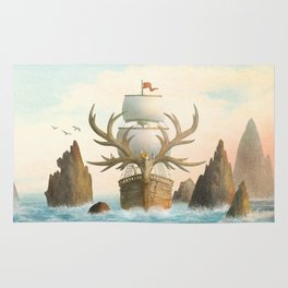 The Antlered Ship - Jacket Rug