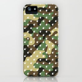 CAMO & WHITE BOMB DIGGITYS ALL OVER LARGE iPhone Case