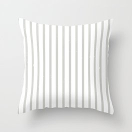 grey stripes with noise Throw Pillow