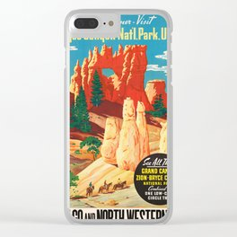 Vintage poster - Bryce Canyon Clear iPhone Case