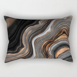 Glowing Marble Waves  Rectangular Pillow