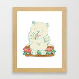 veggies cat Framed Art Print