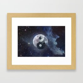 Yin Yang Moon Framed Art Print