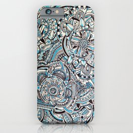 Blue Coral Mandala iPhone Case