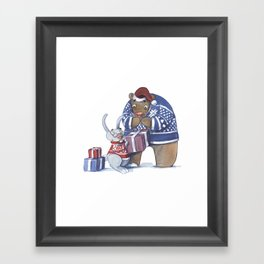A gift from the rabbit Framed Art Print