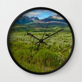 Colorado cattle ranch Wall Clock