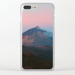Vulcano Sunrise Clear iPhone Case