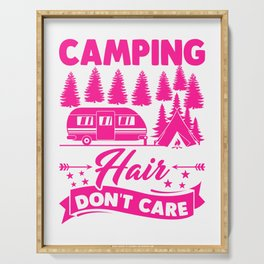 Camping Hair Dont Care v2 mag Serving Tray