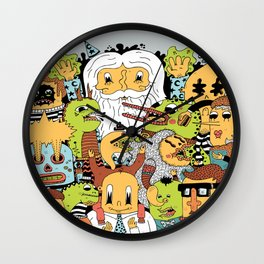 Happy Friends Wall Clock