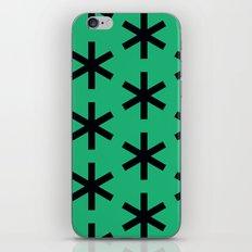Vondel Black on Green Pattern iPhone Skin