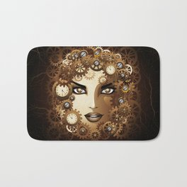 Steampunk Girl Portrait  Bath Mat