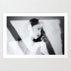 White Dress Series Art Print