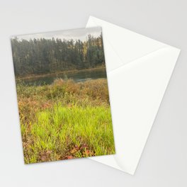 Forest walk by Lake Stationery Cards