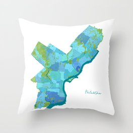 Philadelphia Neighborhoods Throw Pillow