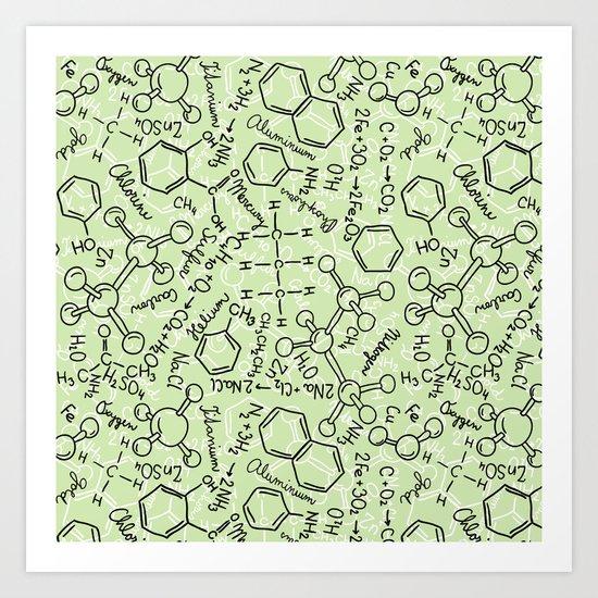 School chemical #6 Art Print