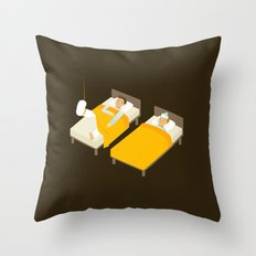 Sick In Bed Throw Pillow