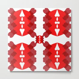 abstract red pattern Metal Print
