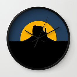 Monument Valley - Left Hand Wall Clock