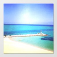 clear Canvas Prints featuring Clear  by Kumi Jono