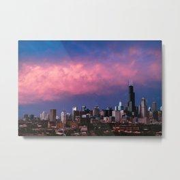 CHICAGO SUNSET Metal Print