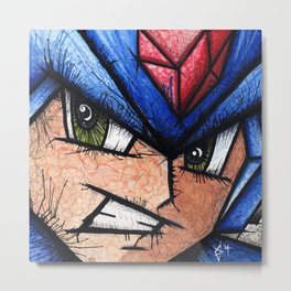 Mega Man X Metal Print