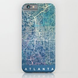 ATLANTA Map Georgia   blue   More Colors, Review My Collections iPhone Case