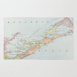Vintage Map of Bermuda (1901) Rug