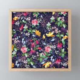Flowers and Lace Framed Mini Art Print