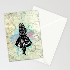 Alice in Wonderland - I Was A Different Person Then Stationery Cards