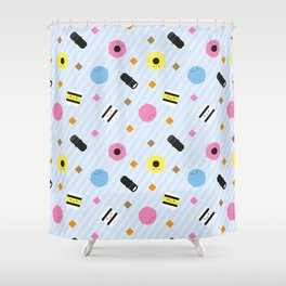 Kawaii Candy Liquorice Allsorts Shower Curtain
