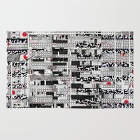 u2 Area & Throw Rugs featuring Opportunistic Species (P/D3 Glitch Collage Studies) by Wayne Edson Bryan