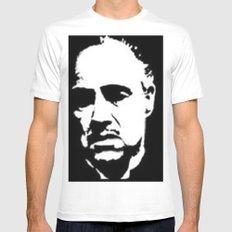 Vito Corleone MEDIUM White Mens Fitted Tee