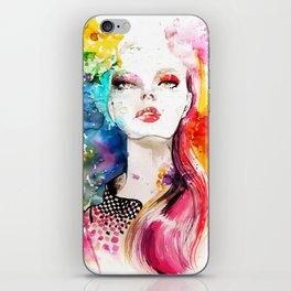 Colors Fashion Illustration iPhone Skin